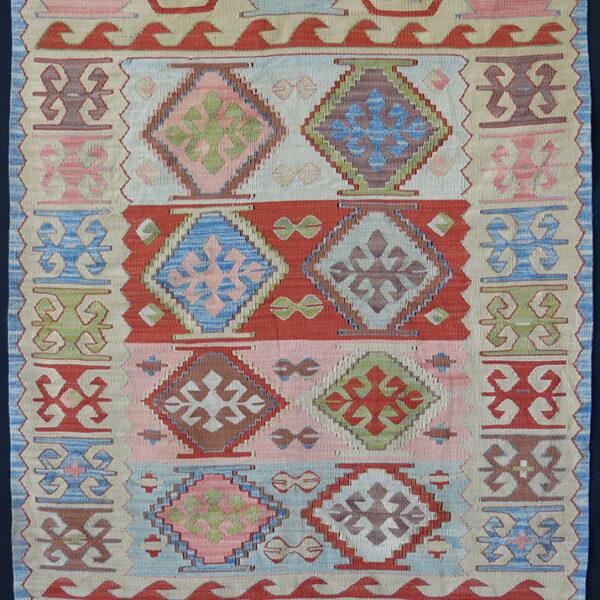 ANATOLIAN – KONYA Small silk kilim