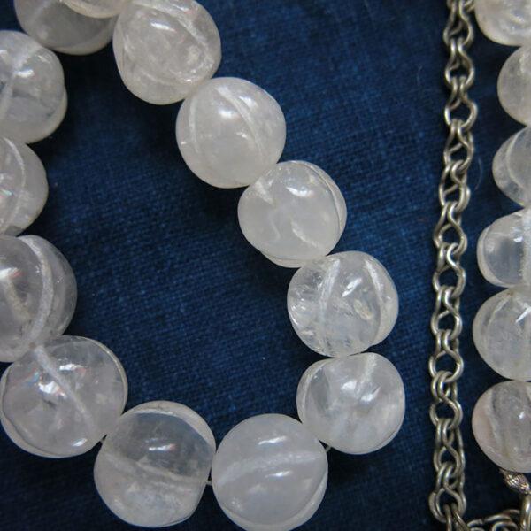 IRAQ NAJAF QUARTZ stone semi-choker necklace