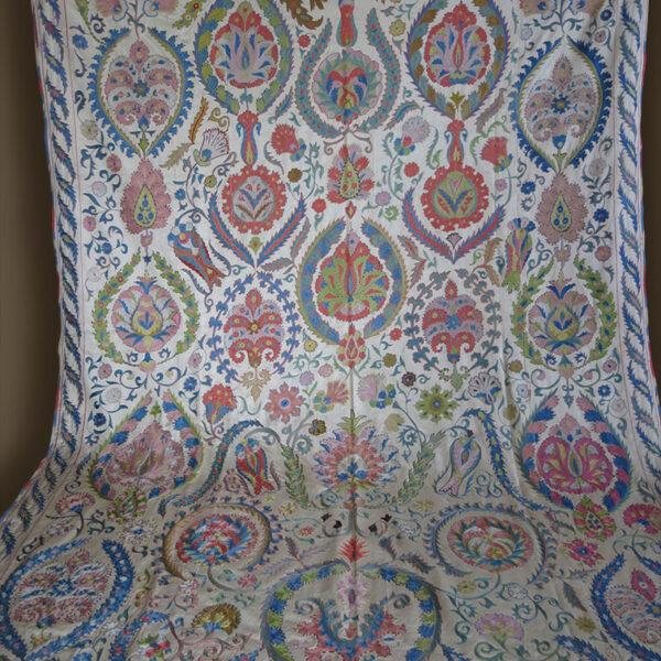 UZBEKISTAN – BOKHARA Nurata Silk embroidery Suzani bed cover