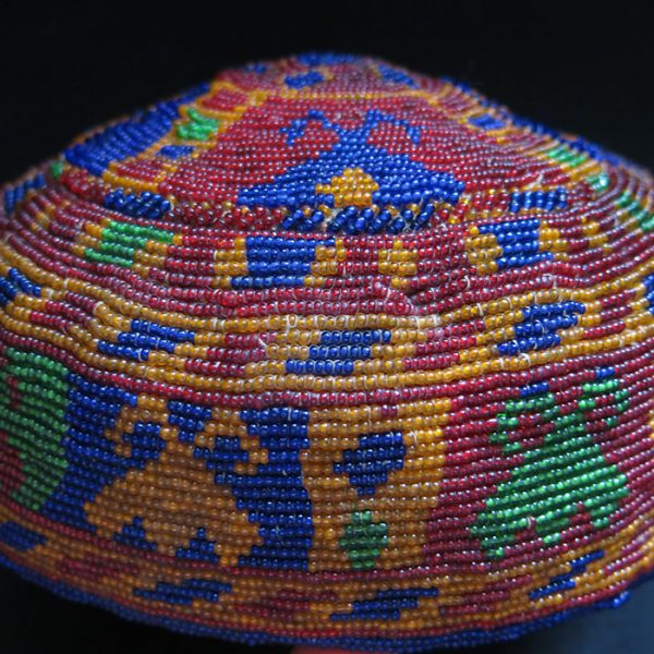 AFGHANISTAN PASHTUN TRIBAL BEADED HAT