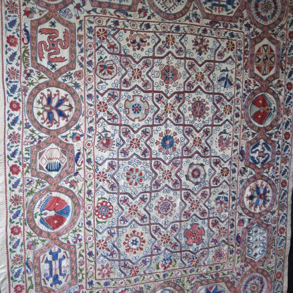 UZBEKISTAN BOKHARA NURATA silk embroidery Suzani